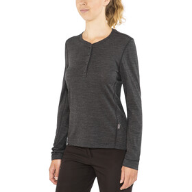 Lundhags Merino Light LS Henley Shirt Damen grey melange